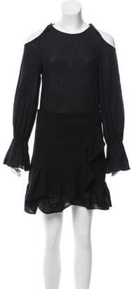 Goen.J Bell Sleeve Mini Dress