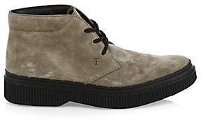 Tod's Men's Suede Low-Top Combat Boots
