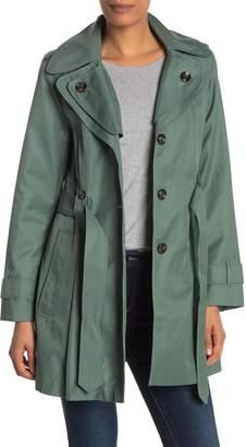 London Fog Missy Double Collar Trench Coat