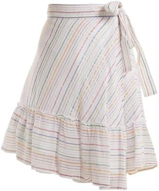 Apiece Apart Tamarind cotton-blend asymmetric wrap skirt