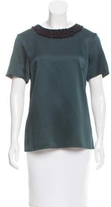 Jason Wu Embellished Short Sleeve Top w/ Tags