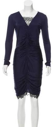 Emilio Pucci Lace-Trimmed Cocktail Dress