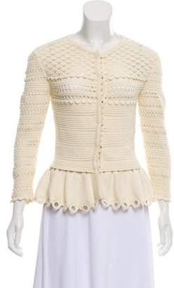 Alexander McQueen Crochet Knit Cardigan