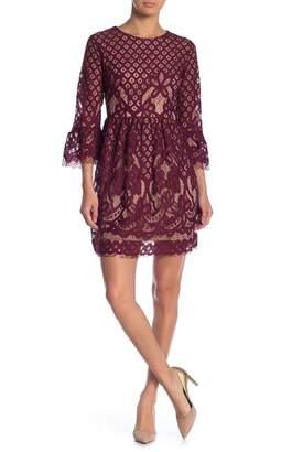 Blu Pepper Bell Sleeve Lace Dress