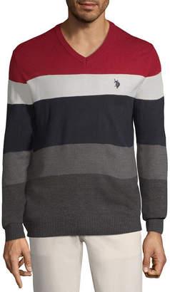 U.S. Polo Assn. USPA V Neck Long Sleeve Pullover Sweater