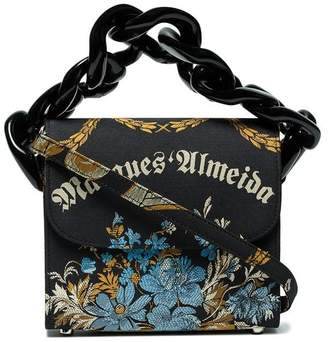 Marques Almeida Marques'almeida Black chain floral jacquard box bag