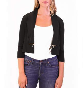 NINA LEONARD Nina Leonard 3/4 Sleeve Bolero With Zippers