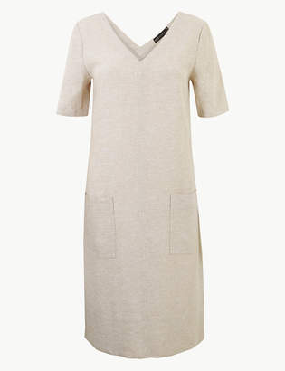 M&S CollectionMarks and Spencer Linen Rich Patch Pocket Shift Dress