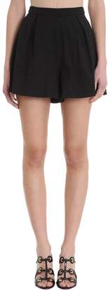 L'Autre Chose Black Cotton Shorts