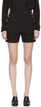 Chloé Black and Gold Button Shorts