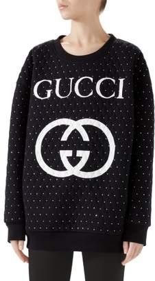 Gucci Logo Crystal Sweatshirt