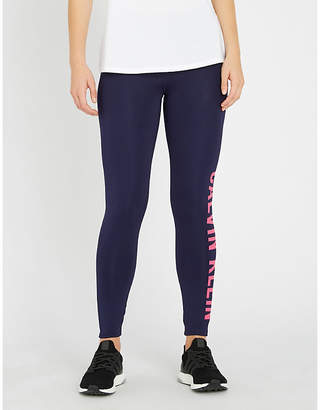 Calvin Klein 7/8 logo-print stretch-jersey leggings