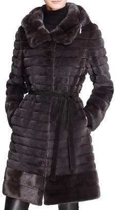 Maximilian Furs Hooded Long Mink Coat - 100% Exclusive