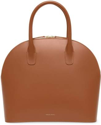 Mansur Gavriel Calf Top Handle Rounded Bag - Saddle