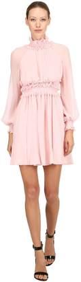 Giambattista Valli Draped Silk Mini Dress