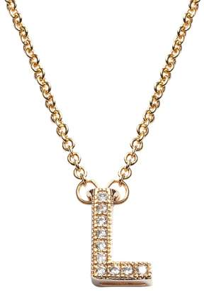 The Silver Lining 14k Gold Over Brass Cubic Zirconia Initial Pendant