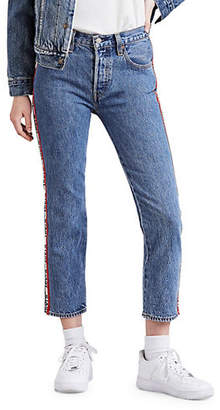 Levi's 501 Cropped Denim Jeans