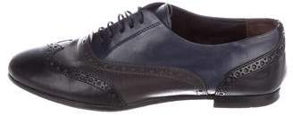 AGL Leather Round-Toe Oxfords