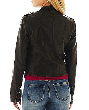JCPenney a.n.a Faux-Leather Jacket