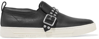 Marc by Marc Jacobs Studded leather slip-on sneakers $485 thestylecure.com