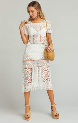 Show Me Your Mumu Clea Cover Up ~ White Crochet