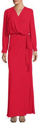 Fame & Partners Maquino V-Neck Self-Tie Wrap Dress