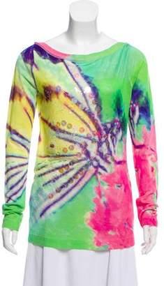 Blumarine Silk Tie-Dye Printed Sweater