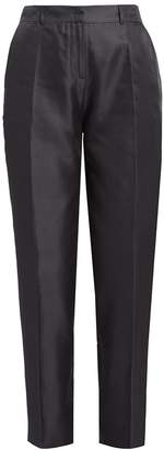 WtR - Satie Black Silk Tapered Suit Trousers
