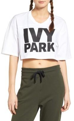 Women's Ivy Park Logo Crop Tee $26 thestylecure.com