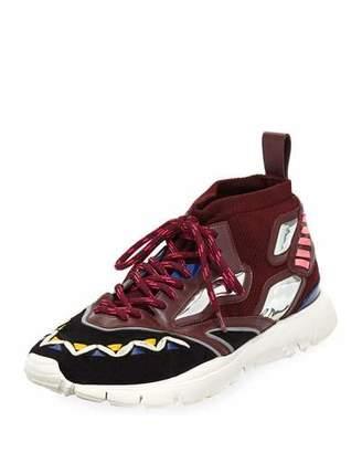 Valentino Men's Mirror Rafa Sock Lace-Up Sneakers