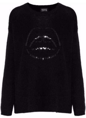 Markus Lupfer Freida Sequin-Embellished Alpaca-Blend Sweater
