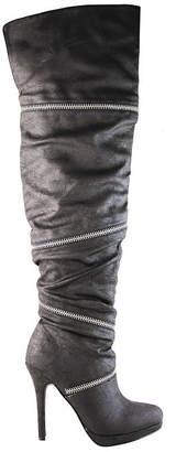 Michael Antonio Womens Presser Over the Knee Boots Stiletto Heel Zip