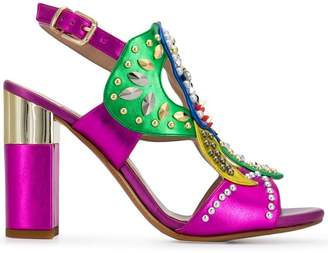 Albano embellished open-toe pumps