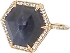 Monique Péan Hexagonal Blue Sapphire And White Diamond Ring