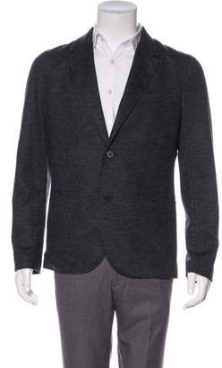 Lanvin Tweed-Paneled Notch-Lapel Blazer