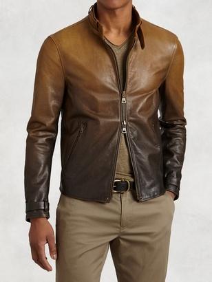 Gradient Lambskin Moto Jacket $1,898 thestylecure.com