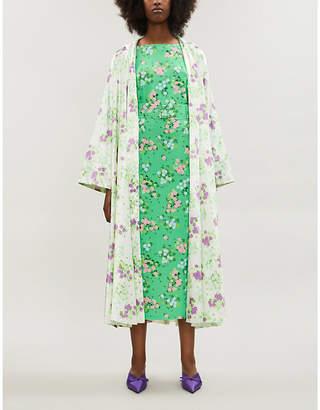 MONICA BERNADETTE floral-print stretch-jersey skirt