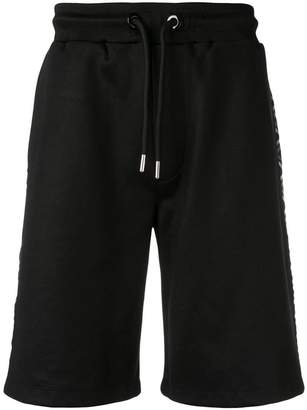 Les Hommes Urban side stripe track shorts