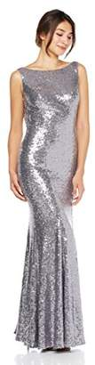 Cambridge Silversmiths Women's Sequin Bodycon Evening Gown 6