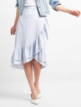 Gap Ruffle Wrap Midi Skirt