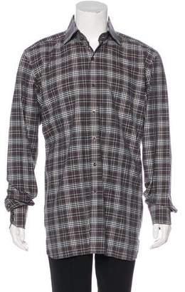 Tom Ford Plaid Dress Shirt