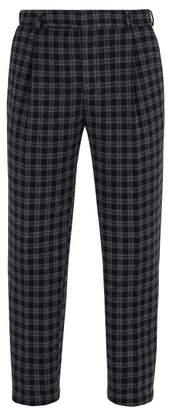 Fendi Checked Trousers - Mens - Navy Multi