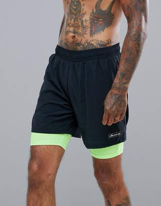 Ellesse Sports Seconda layered short in black
