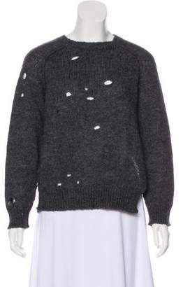 Etoile Isabel Marant Distressed Crew Neck Sweater