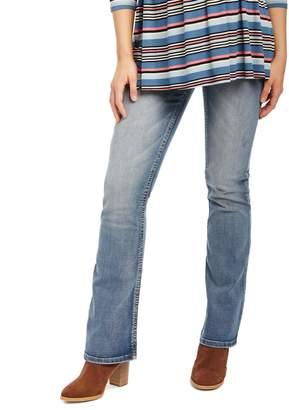 046379f1ffe5c Motherhood Maternity Indigo Blue Secret Fit Belly Stitched Pocket Bootcut Maternity  Jeans- Dark Wash