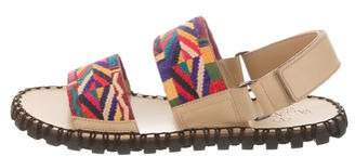 Valentino Woven & Leather Sandals w/ Tags