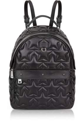 Furla Black Star Quilted Leather Favola Small Backpack