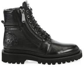 Balmain Army Ranger Leather Combat Boots