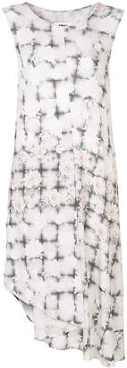 MM6 MAISON MARGIELA floral check asymmetric dress