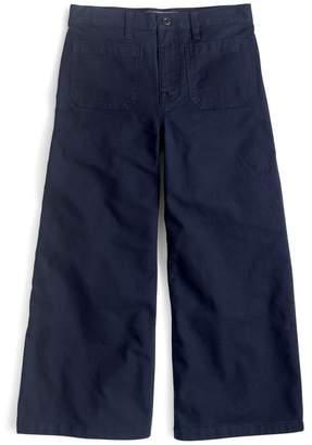 J.Crew J. Crew Point Sur Washed Wide Leg Crop Pants